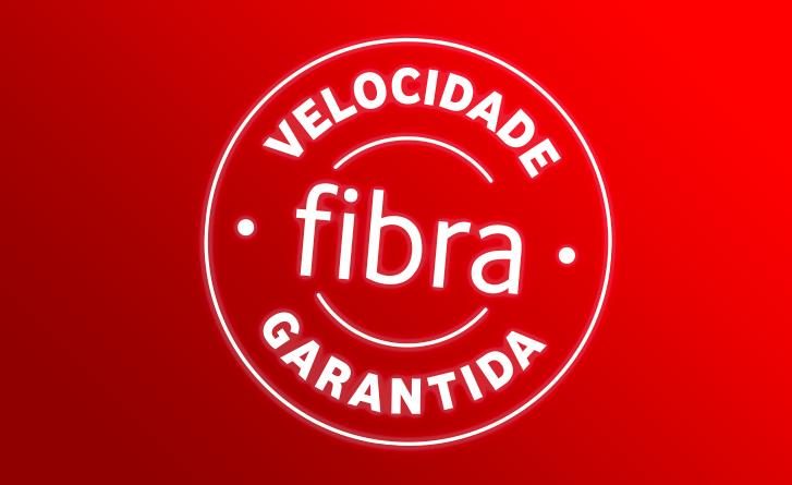 100% fibra com velocidade garantida até 500 Mbps
