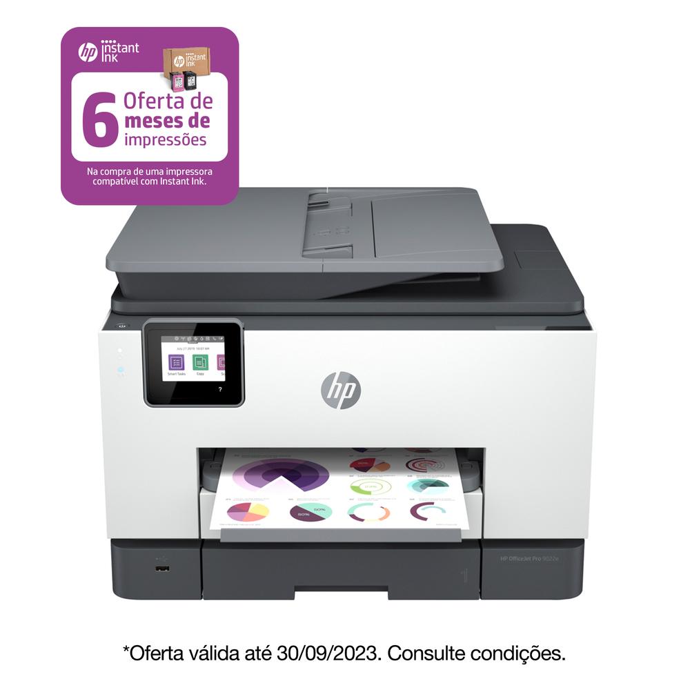 HP Multifunções Jato de Tinta OfficeJet Pro 9012e, A4, Wi-Fi