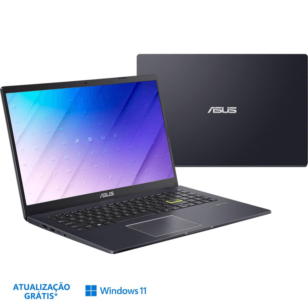 "ASUS Portátil E510K, 15,6"", Intel® Celeron® N4500, 4 GB RAM, 128 GB, Preto"