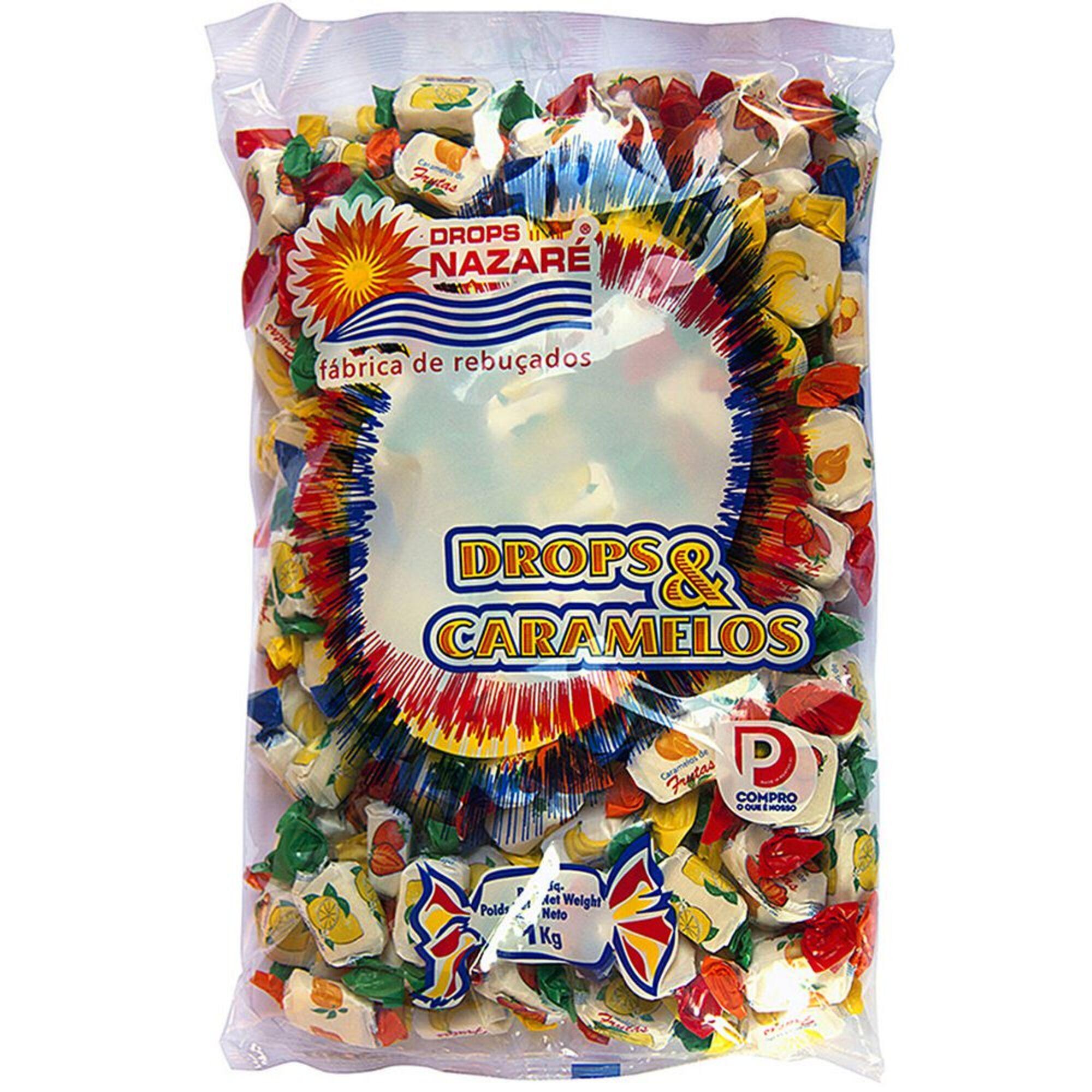 DROPS NAZARÉ - DROPS NAZARÉ Caramelos de Fruta, 1 kg