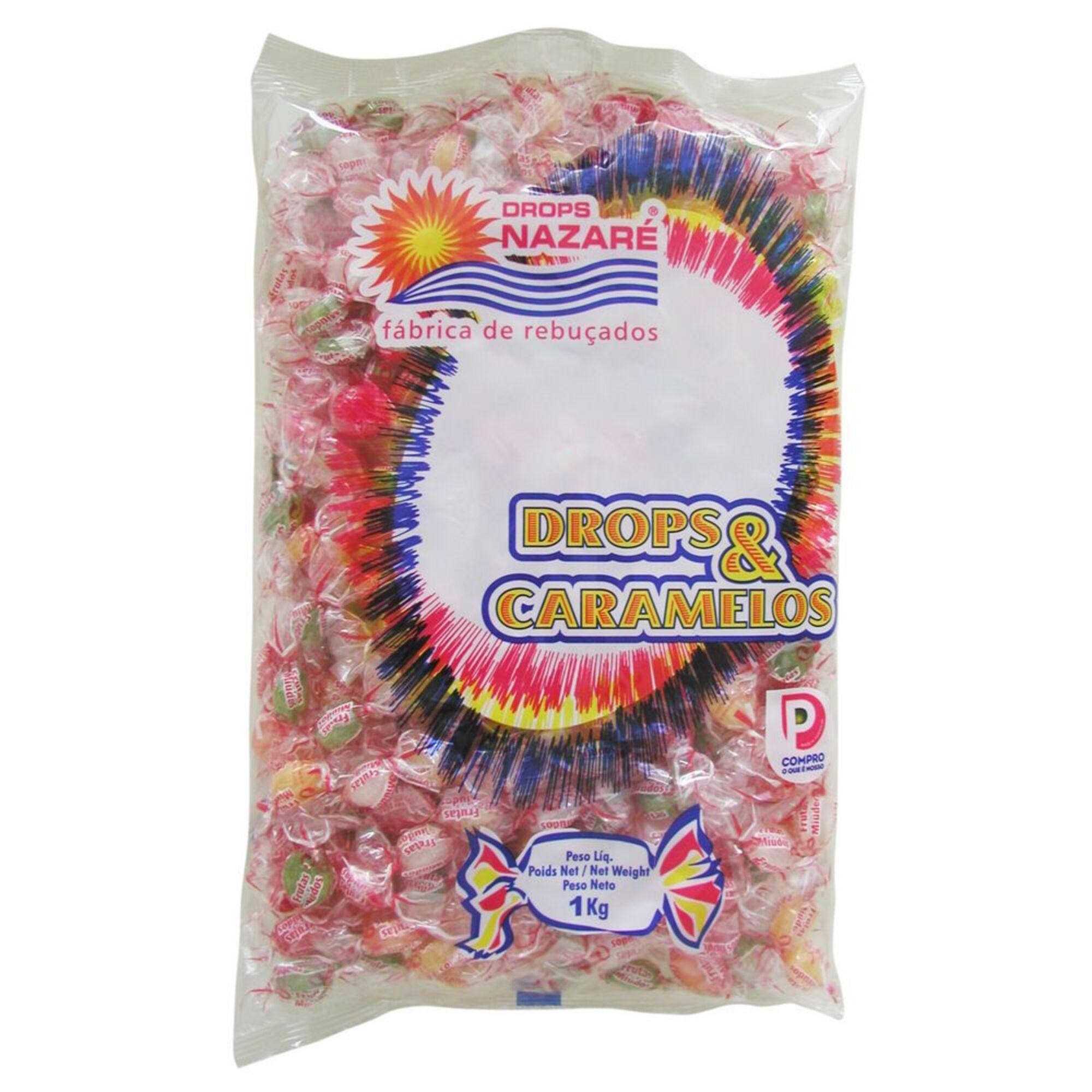 DROPS NAZARÉ - DROPS NAZARÉ Rebuçados de Fruta Mini, 1 kg