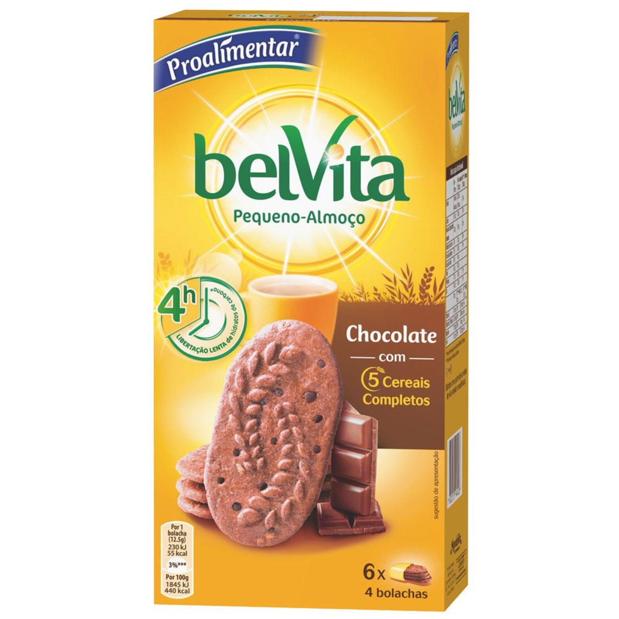 PROALIMENTAR - PROALIMENTAR Bolacha  Chocolate & 5 Cereais, 6 x 4 Bolachas