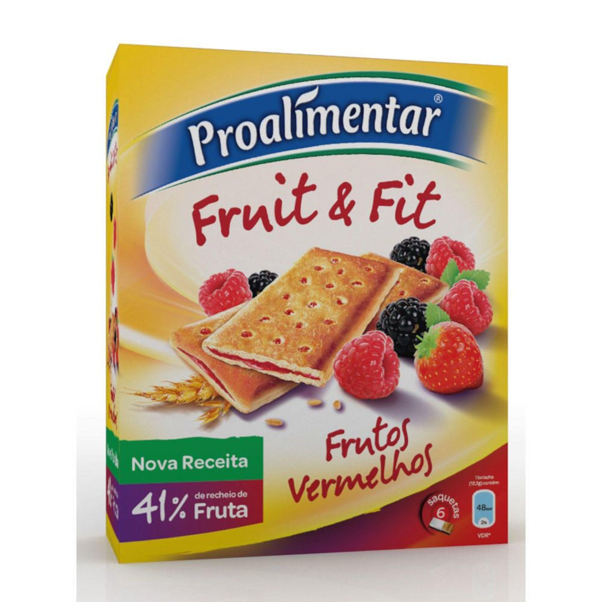 TRIUNFO - Triunfo Bolacha Fruit & Fit, Frutos Vermelhos, 148 g
