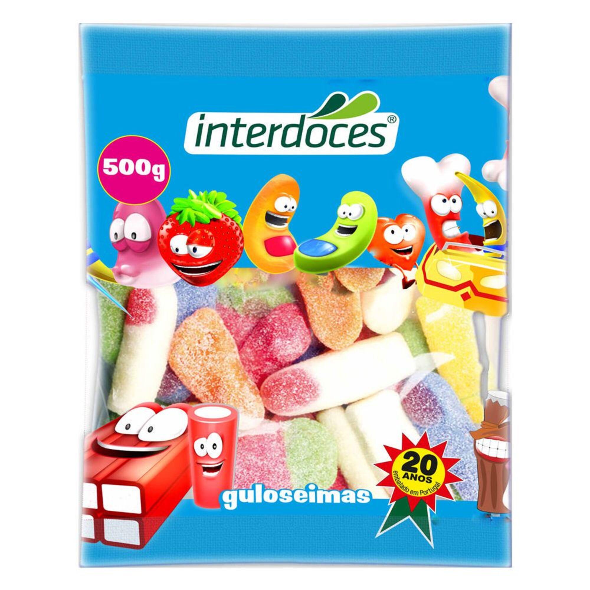 INTERDOCES - INTERDOCES Gomas Ácidas, 500 g, Sortido
