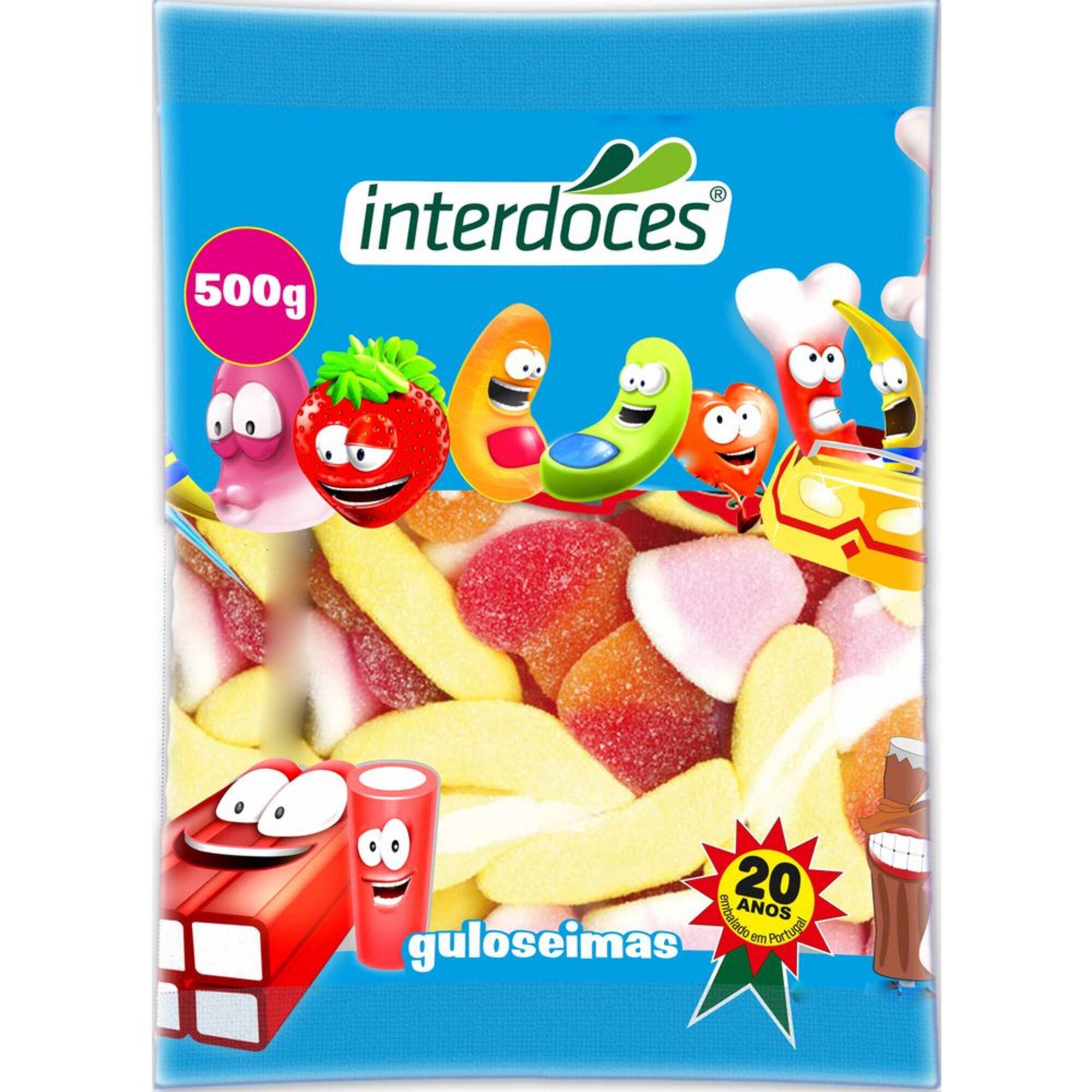 INTERDOCES - INTERDOCES Gomas Açúcar, 500 g, Sortido
