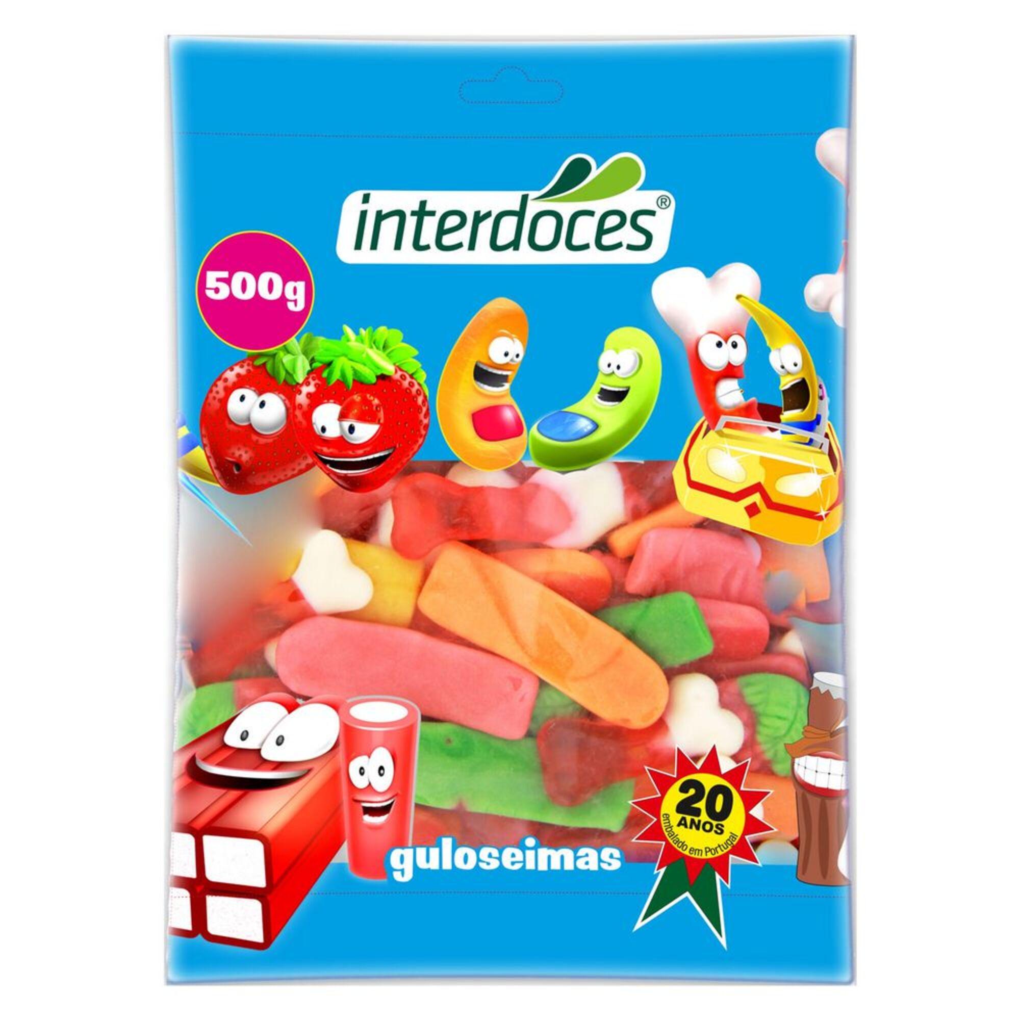 INTERDOCES - INTERDOCES Gomas Brilho, 500 g, Sortido