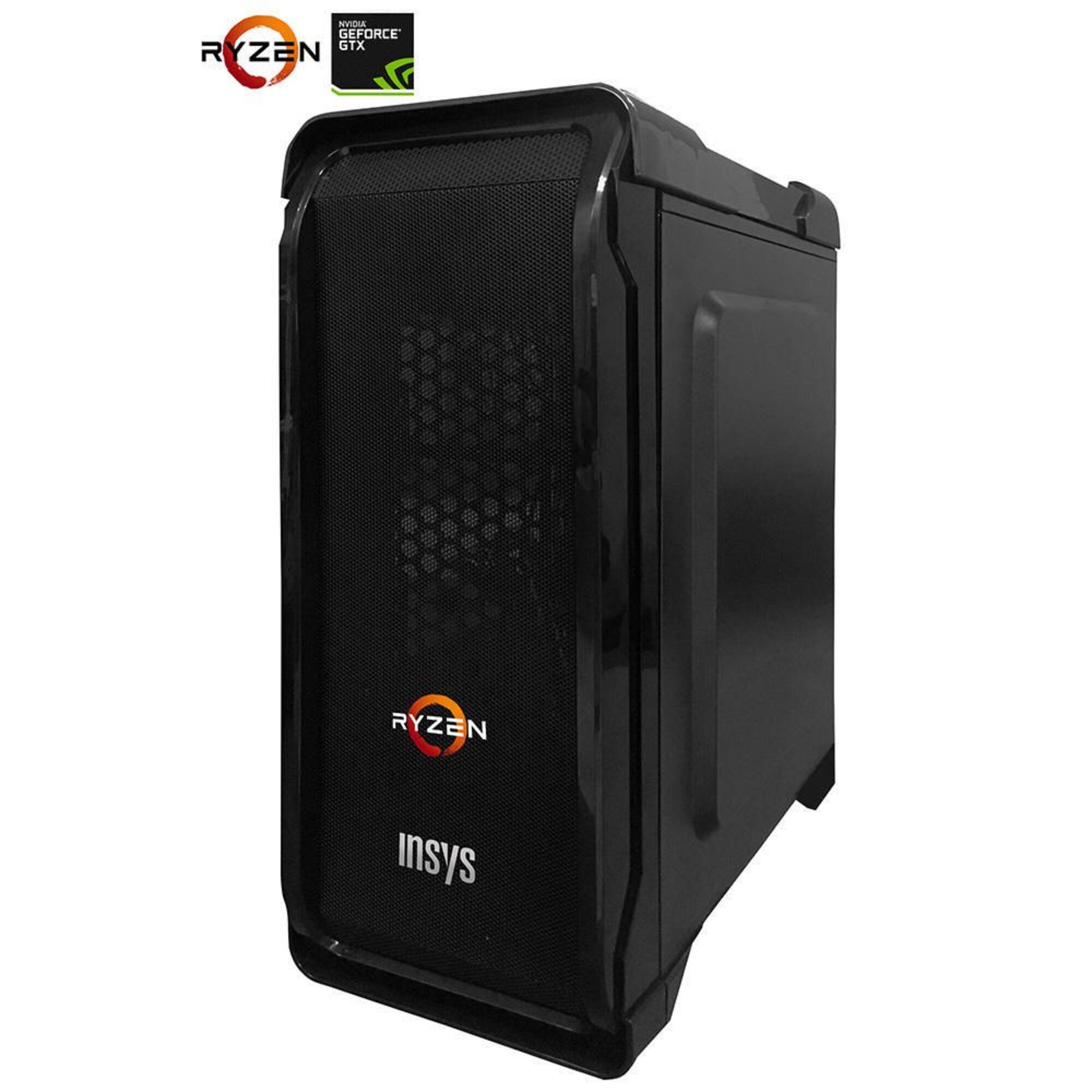 INSYS - Computador Powerpaly Ryzen 5 1400 GTX 1050TI 4GB 8GB/120GB SSD + 1TB + Win 10 - INSYS