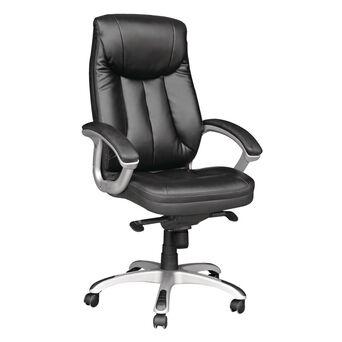 Cadeira de Executivo para Escritório Hermes, Pele Sintética, Preto