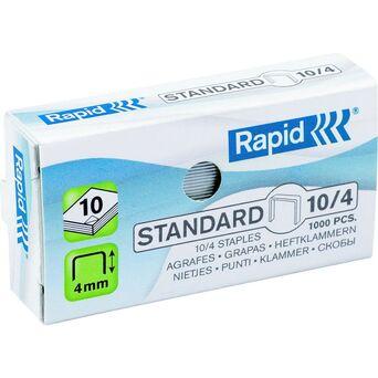 Rapid Agrafos Standard, 10/4, Caixa 1 000
