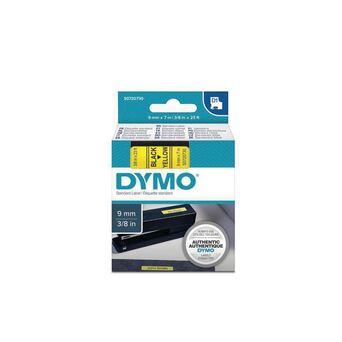 DYMO D1 padrão S0720730, preto sobre amarelo, 9 mm x 7 m