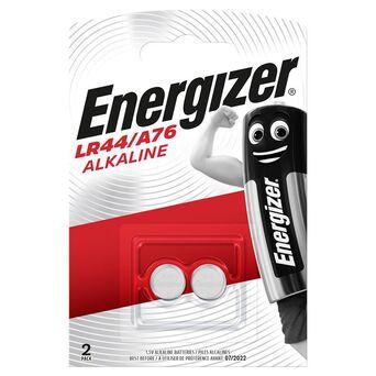 Energizer Pilha Alcalina Tipo Botão A76 LR44, 1,5 V, Embalagem 2 Unidades