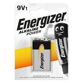 Energizer Pilha Alcalina Clássica Power 9 V LR61, Embalagem 1 Unidade