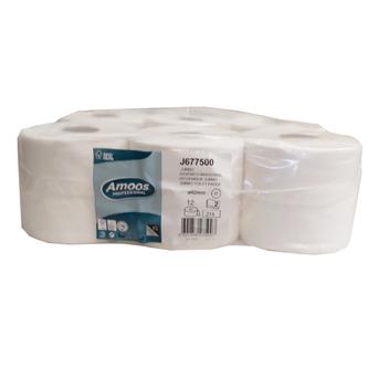 Papel Higiénico Jumbo,75 my, 2 Camadas, Branco