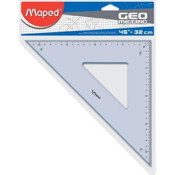 Maped Esquadro Technic GeoMetric, 45º/45º -32 cm, Transparente