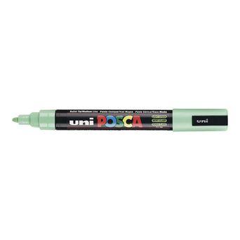 POSCA Marcador PC-5M, Ponta Redonda Média 1,8 a 2,5 mm, Tecnologia de Tinta Líquida, Verde Claro
