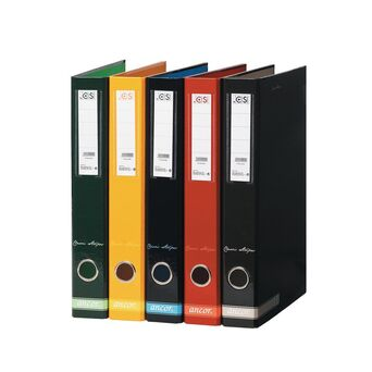 ANCOR Pasta de Arquivo Lombada Estreita Riscas, A4, Largura da Lombada 47 mm, Cartão, Vermelho
