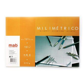 MAB Bloco Papel Milimétrico A4, 10 Folhas