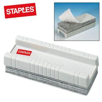 Staples Apagador de Quadro Branco com Panos Amovíveis, Plástico, Branco