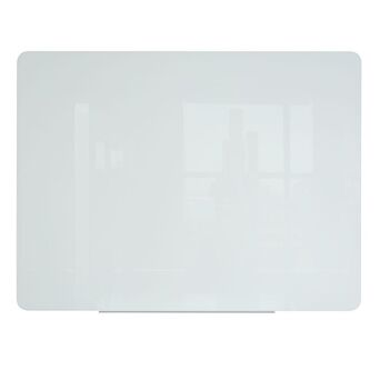 BI-OFFICE Quadro branco magnético, vidro temperado, 4 mm, 1200 x 900 mm