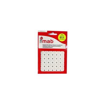 MAB Etiquetas Autocolantes de Reforço para Argolas de Dossier, Redondas, 4 mm, Branco, 244 Etiquetas