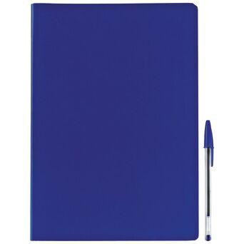 Staples Caderno Agrafado A4, 80 Folhas, Quadriculado, Azul
