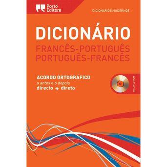 PORTO EDITORA Dicionário Moderno de Francês-Português/Português-Francês com CD