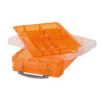 Really Useful Box Caixa de Arrumação, A4, 4 L, Plástico, Tabuleiro Laranja