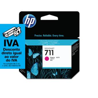 HP Tinteiro 711, Magenta, Embalagem Individual, CZ131A