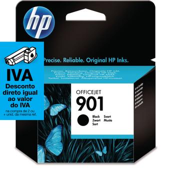 HP Tinteiro Original 901, Preto, Individual, CC653AE