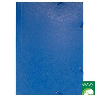 EXACOMPTA Pasta A3 de 3 abas com elásticos Nature Future® para 200 folhas, 600 g/m², cartão rígido azul