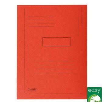 EXACOMPTA Pasta de 2 abas Forever® com linhas impressas, 200 folhas A4, 240 x 320 mm em cartão reciclado vermelho