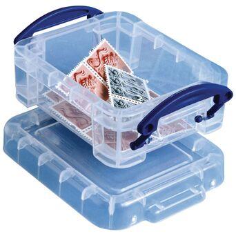 Really Useful Box Caixa de Arrumação Multiusos, 0,7 L, Transparente