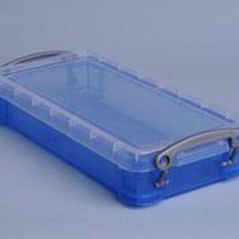 RUP Caixa de armazenamento empilhável azul de 0,55 l, 220 x 100 x 40 mm