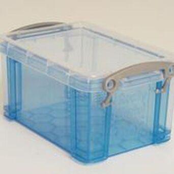 RUP Caixa de armazenamento empilhável azul de 0,7 L, 155 x 100 x 80 mm