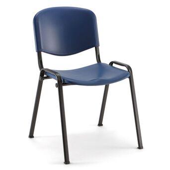 LINEA FABBRICA Cadeira de Visitante Empilhável D500P, Polipropileno e Metal, Azul