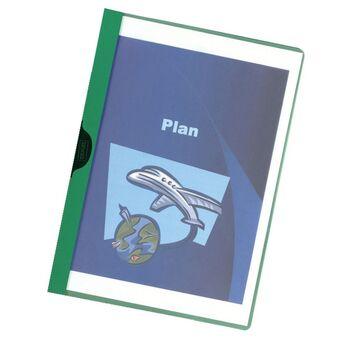 Staples Classificador com clip 30 folhas Verde