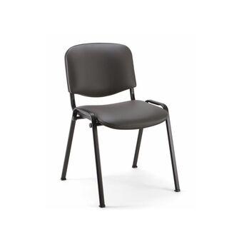 Cadeira de Visitante Visi Renna, Pele Sintética, Cinzento