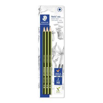 STAEDTLER Lápis de Grafite Noris Eco, Minas HB, Corpo Hexagonal Verde e Preto