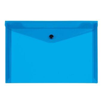 LIDERPAPEL Envelope A5, Capacidade para 50 Folhas, Polipropileno, Azul Transparente