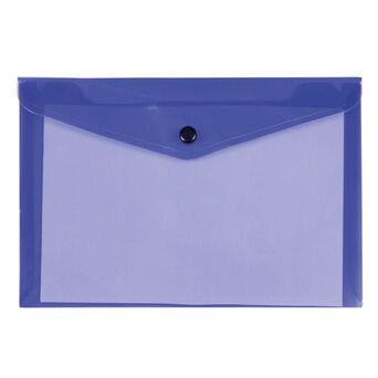 LIDERPAPEL Envelope A4, Capacidade para 50 Folhas, Polipropileno, Roxo Transparente