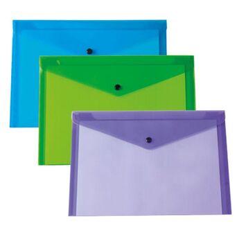 LIDERPAPEL Envelope A6, Capacidade para 50 Folhas, Polipropileno, Cores Sortidas