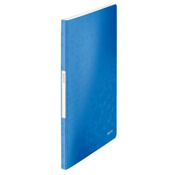 LEITZ Portfólio WOW, A4, 20 Bolsas, Polipropileno, Azul Metálico
