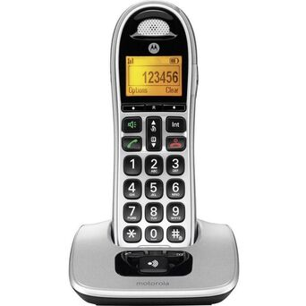 Motorola Telefone Sem Fios Sénior CD301, Cinzento