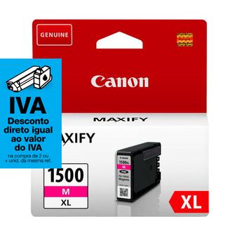 Canon Tinteiro Original Maxify PGI-1500 XL de Alto Rendimento, Magenta, Individual, 9194B001