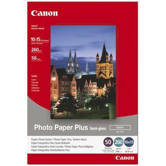 Canon Plus Papel Fotográfico para Jacto de Tinta 100 x 150 mm Semi-brilhante Acetinado 260 g/m² Branco 50 Folhas