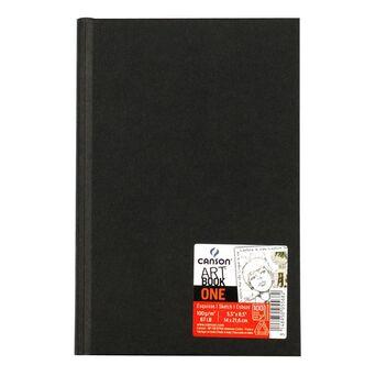 CANSON Diário Gráfico One Art Book™, A5, 100 Folhas, Capa Texturada Preta