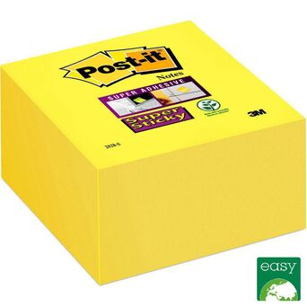 Post-it Cubo Super Sticky 76 x 76 mm, Amarelo Narciso, 350 folhas