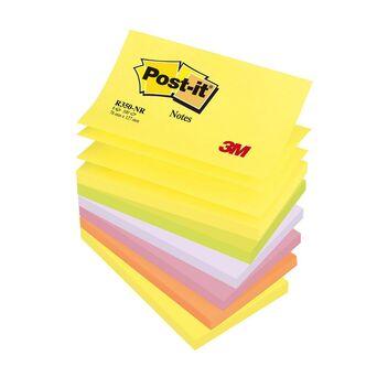 Post-it Bloco Z-Notes 127 x 76 mm, Cores Néon, Pack 6, 100 folhas