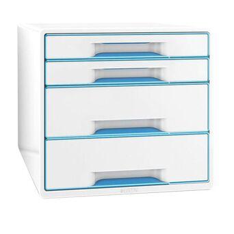 LEITZ Arquivador WOW 287 x 363 x 270 mm em poliestireno branco/Azul