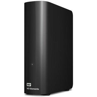 Western Digital HDD Externo de Secretária USB 3.0 Elements Desktop de 4 TB, Preto